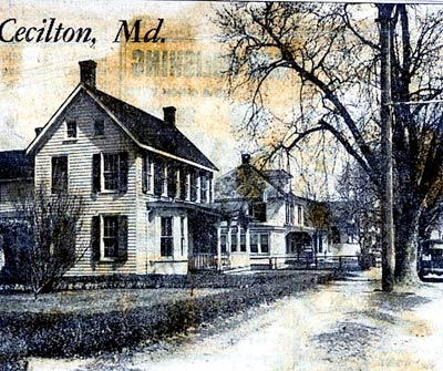 Old photo of Cecilton from a newspaper