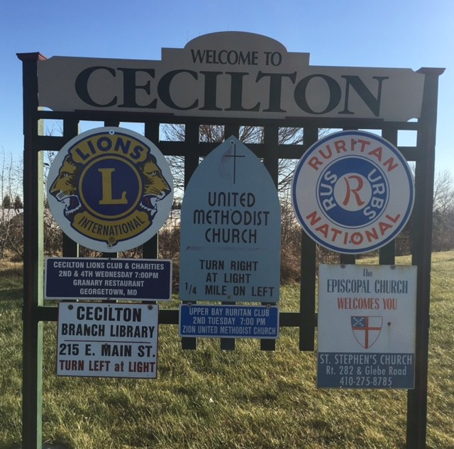 Welcome to Cecilton signage
