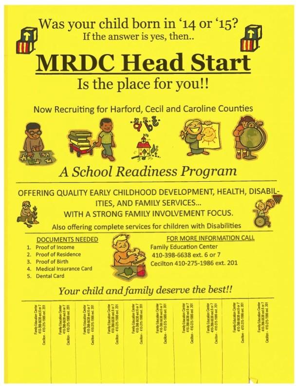 MRDC Headstart program